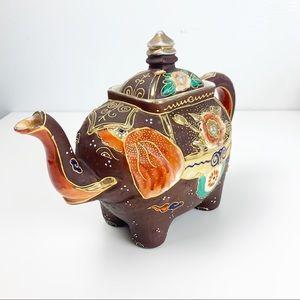 Elephant Bohemian Artisans Hand Painted Teapot